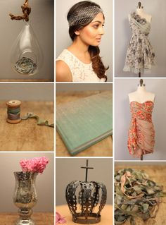 Mix n match bmaids' dresses, succulents & floral prints! Tons of 2012 wedding love right here! Hanging Succulents, Dream Wedding, Wedding Dreams, Wedding Stuff, Blow Your Mind, Hair Dos, Vintage Fashion, Vintage Style, Wedding Bells