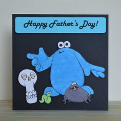 The Trap Door Father's Day Card Hand Drawn Not Printed Cartoon Retro 80's Berk