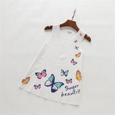 $5.72 (Buy here: https://alitems.com/g/1e8d114494ebda23ff8b16525dc3e8/?i=5&ulp=https%3A%2F%2Fwww.aliexpress.com%2Fitem%2F2016-new-summer-baby-girls-clothing-sleeveless-dress-fashion-girls-dresses-kids-butterfly-cotton-dresses-children%2F32659257553.html ) 2016 new summer baby girls clothing sleeveless dress fashion girls dresses kids butterfly cotton dresses children clothes for just $5.72