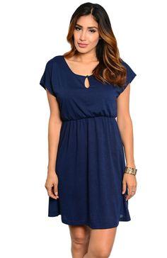 Short Sleeve Empire Waist Knit Dress