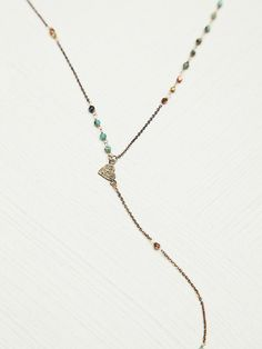 Free People Delicate Long Rosary at Free People Clothing Boutique