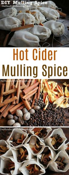 If you are into giving consumable gifts, these little bags of homemade mulling spices totally fit the bill. They will make the recipient's house smell fantastic and provide them with a whole crock. Homemade Mulling Spice Recipe, Homemade Cider, Homemade Spices, Homemade Seasonings, Mulled Cider Spices, Mulled Cider Recipe, Mulling Spices, Tea Recipes, Wine Recipes