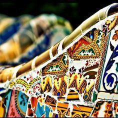 Park Guell. Barcelona, Spain. 1900-14. Antoni Gaudi.