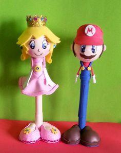 LORRAINE'S HANDMADE WITH LOVE : Fofupluma superman Mario Bros y princess peach