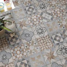Carrelage mix couleur effet terre cuite Villa l.20 x L.20 cm