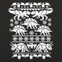 Ugly Dinosaur Sweater T-Shirt by 6 Dollar Shirts. Thousands of designs available for men, women, and kids on tees, hoodies, and tank tops. Crochet Dinosaur, Dinosaur Pattern, Holiday Sweater, Ugly Christmas Sweater, Ugly Sweater, Sweater Shirt, Knitting Designs, Knitting Projects, Knitting Charts