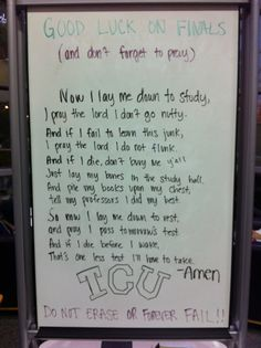 TCU finals prayer