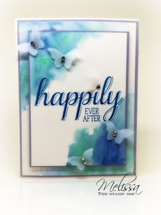 watercolor corners card by Melissa Stout