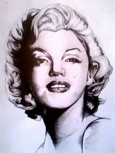 Marylin Monroe by ImagineCreativMonkey | This image first pinned to Marilyn Monroe Art board, here: http://pinterest.com/fairbanksgrafix/marilyn-monroe-art/ || #Art #MarilynMonroe