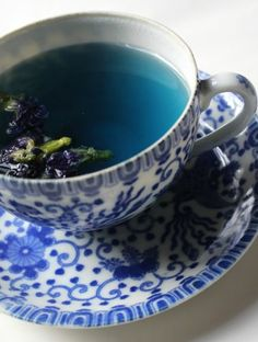 """I was recently contacted by the company in Bangkok about trying a sample of this tea, described as """"a tasty, blue health tea made from only the best butterfly pea flowers. Its rich, refreshing taste combined with the wonderful, intense blue color makes it a perfect tea but it can also be used as natural food coloring for baking, cooking, and drinks."""" This is what the loose herbal tea looked like when I opened the packet."""
