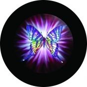 Purple Butterfly Tire Cover