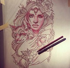 Mother Nature tattoo idea