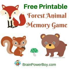 Super cute printable memory game for kids. Your kids are going to love this adorable forest animal game! Click through to print your free copy.