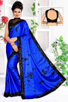 0b9c7d6166 Fabric satin crystal silk 5.50 mtr saree Blouse -squence 38 size + margines  available Best