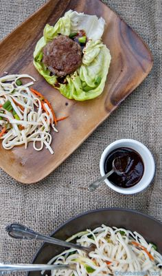 Asian Chicken Patty Wraps are full of protein and can be whipped up in 30 minutes or less | @Susan Salzman | www.theurbanbaker.com