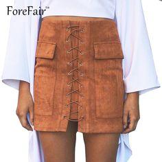 最新の高品質レザー女性スカートピンククラシックvintageすべてのマッチ包帯スエードスカートハイウエストボディコン短い鉛筆のスカート