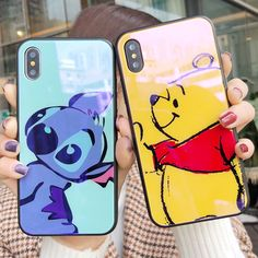$4.49 - Blue Disney Bear Scratch Resistant Phone Case Back Cover For Iphone 6/7/8/X #ebay #Electronics Cheap Iphone 7 Cases, Diy Iphone Case, Iphone 6 Plus Case, Iphone Phone Cases, Cellphone Case, Smartphone, Cute Cases, Cute Phone Cases, Coque Ipod