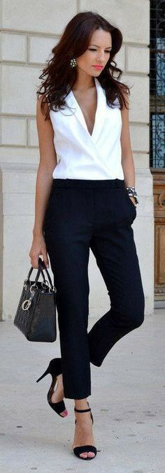 Classic black white street style ♥✤ | KeepSmiling | BeStayClassy