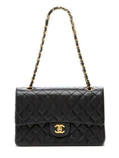 Chanel Black Quilted Lambskin Classic 2.55 Large Double Flap Bag