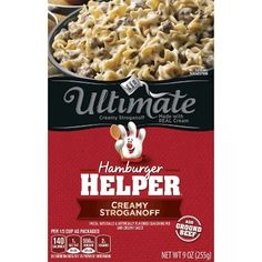 Hamburger Helper Ultimate Creamy Stroganoff 9 oz (016000437111) Hamburger helper ultimate creamy stroganoff 9 oz