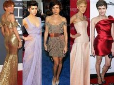 """Here's a hilarious photo that Harry Potter actor Tom Felton posted on Twitter this week.  It features the One Direction guys' heads masterfully photoshopped onto female celebs' bodies. For example, Zayn's rather fetching purple gown is actually Mila Kunis's body.  Tom posted the pic for his fans and wrote """"My gf just send me this pic. Thought you'd all appreciate it too. Harry looks dashing.""""   Later, he added """"Niall should be cast as the next Disney princess with that dress."""