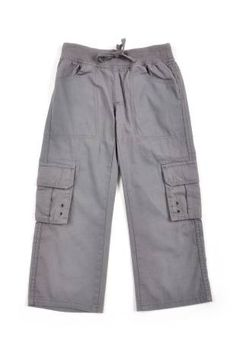 """Pantalón tipo """"cargo"""" para niño, en color gris."""
