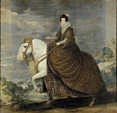 La reina Isabel de Francia a caballo (1628-1636)