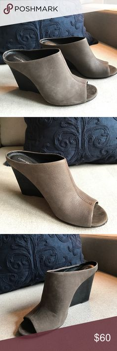 Calvin Klein Jeans wedged mule Only worn a few times! In excellent shape! Wedge length located in the pictures! Calvin Klein Jeans Shoes Mules & Clogs