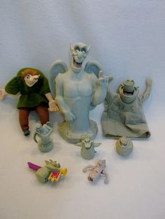 Lot of Disney Hunchback of Notre Dame quasimodo Victor Hugo Gargoyle toys B USED #Disney