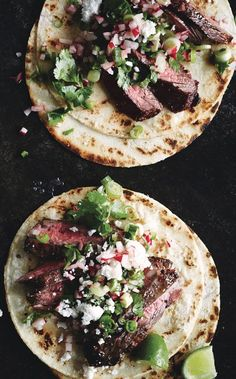 Tacos with Cilantro-Radish Salsa Radishes make a crunchy salsa for these—or any other taco you're serving this summer.Radishes make a crunchy salsa for these—or any other taco you're serving this summer. Mexican Food Recipes, Real Food Recipes, Cooking Recipes, Healthy Recipes, Steak Tacos, Radish Recipes, Good Food, Yummy Food, Dessert