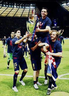 Celebrating Champions vs juventus 2015