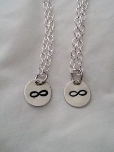 Matching couples or best friends necklaces by Temple Stamping