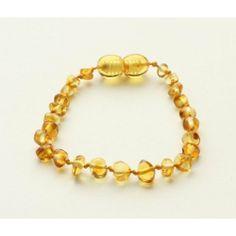 Bouncy Baby Boutique(TM) - B13 Lemon Baltic Amber Teething Anklet/Bracelet by Bouncy Baby Boutique(TM),
