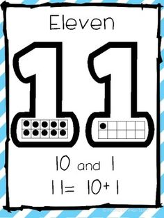 Teen Number Posters- Common Core Aligned - Kindergarten Stars - TeachersPayTeachers.com  for my pre-k i am not going to worry about the addition. I want them to be able to count and id the quantity. (january)