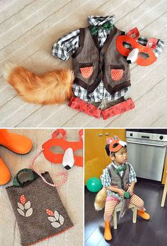 DIY fox costume for kids + 5 other super cute easy to make Halloween costumes
