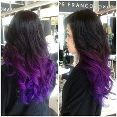 Magenta to purple ombre. Love.