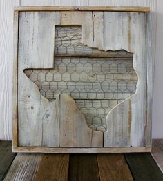 Texas Chicken Wire Texas by Craft Ginger. So Cute!