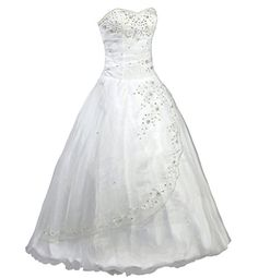 Oailiya Womens Long Formal Prom Party Dress Size 28 White *** Details can be found by clicking on the image.(This is an Amazon affiliate link and I receive a commission for the sales)