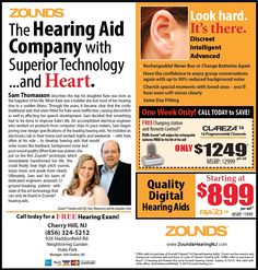 Zounds Hearing Aids- Clareza 16 in Cherry Hill NJ