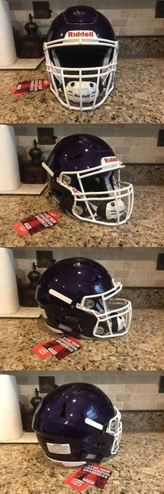 Helmets and Hats 21222: Riddell Revo Speed Flex Football Helmet Purple W White Facemask Adult Large -> BUY IT NOW ONLY: $365 on eBay!