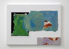 Sean Bailey, Wells and Springs (2012), Synthetic polymer paint and collage on composite board