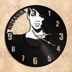 GeoArtCrafts - Rihanna Wall Clock Vinyl Record Clock