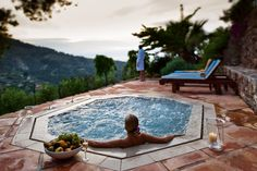 The plunge pool of the Spa is the perfect place to unwind and admire the sunset