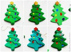 Learning and Exploring Through Play: Salt Dough Fingerprint Christmas Trees