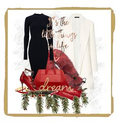 """""""A holiday outfit for the chic"""" by britt-catlynne-weatherall ❤ liked on Polyvore featuring The Row, Andrew Marc, Victoria Beckham, Halcyon Days, Malone Souliers, Beats by Dr. Dre, Bloomingdale's, Givenchy, Christian Louboutin and VANINA"""
