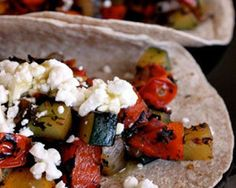 Skillet Veggie and Feta Tacos