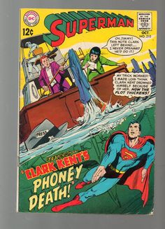 Superman (Vol.1) #210 Silver Age DC Comic 1968 Leo Dorfman VG-