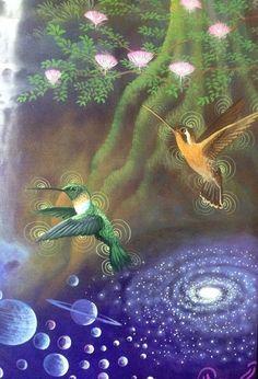 Cosmic Hummingbirds Series By Mauro Reategui Perez