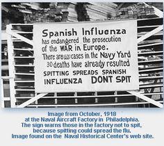 Spanish Flu 1918 Naval Aircraft Factory in Philadelphia, PA.
