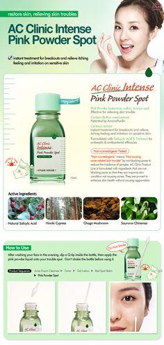 Etude House Korea Jakarta: Etude House AC Clinic Intense Pink Powder Spot 15m...